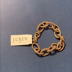J. Crew gold and crystal chain link